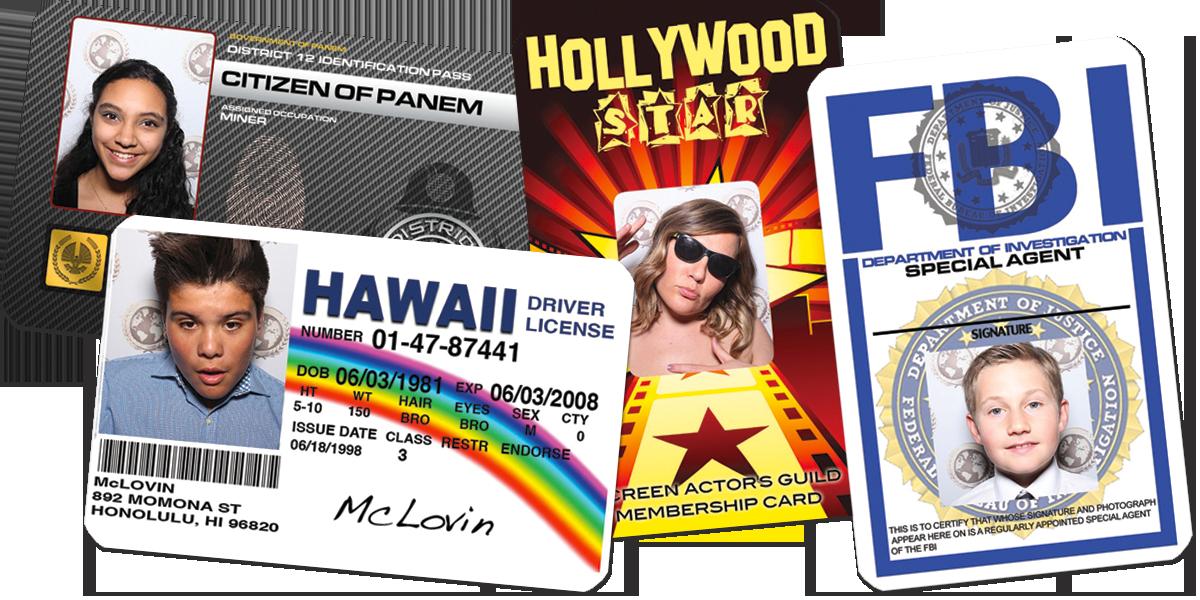 Custom Fake ID card Photo Booth